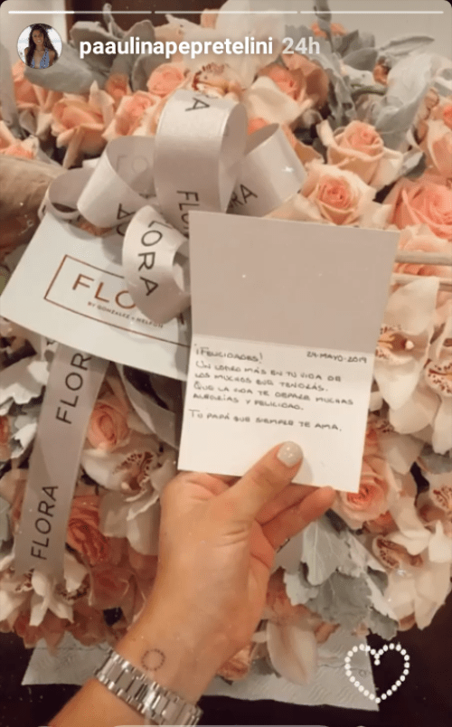El amoroso mensaje que EPN le envió a su hija Paulina Peña