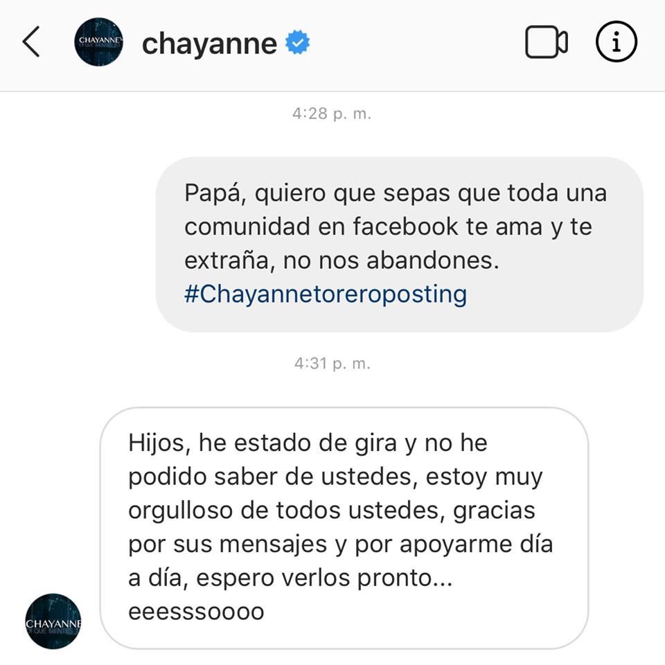 Chayanne agradece a sus hijos perdidos felicitaciones de día del Padre
