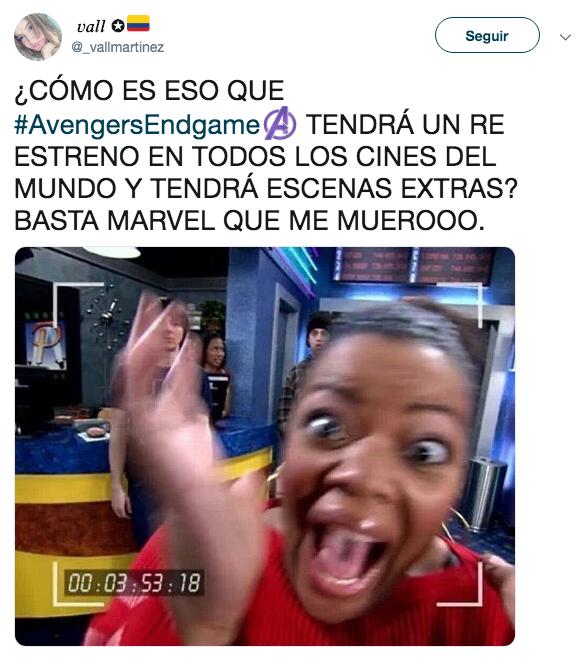 Memes del reestreno de Avengers: Endgame