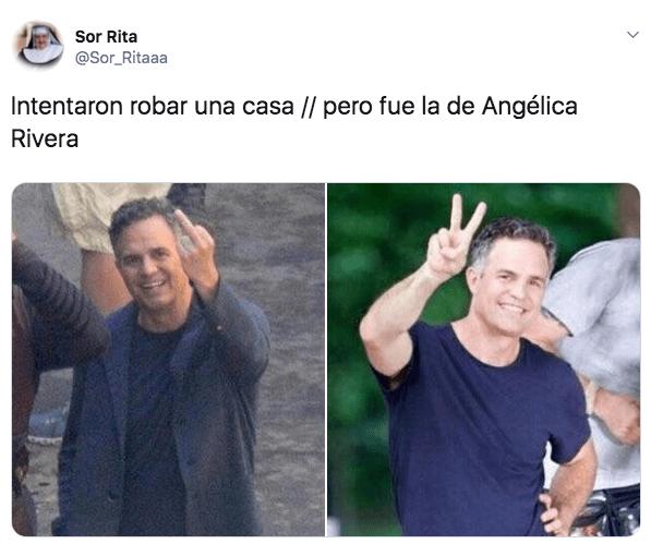 Memes del robo a la casa de Angélica Rivera