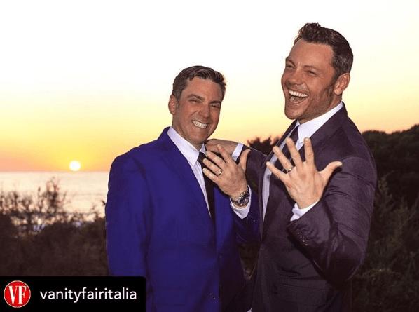 Tiziano Ferro se casa con su novio en íntima ceremonia