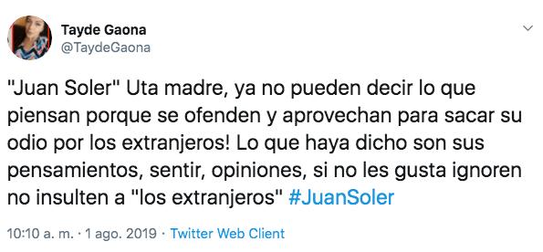Juan Soler critica forma de gobierno de AMLO y piden que lo expulsen de México
