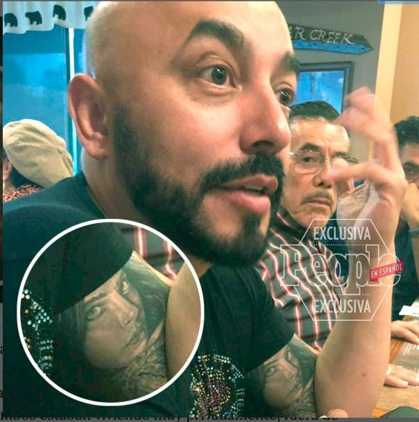 Lupillo Rivera se tatuó la cara de Belinda