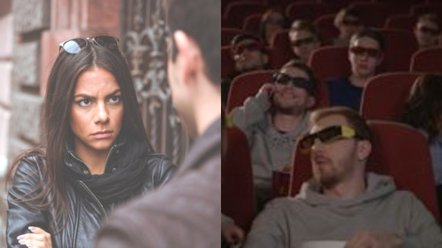 Mujer golpea esposo por no decirle que era bonita en el cine