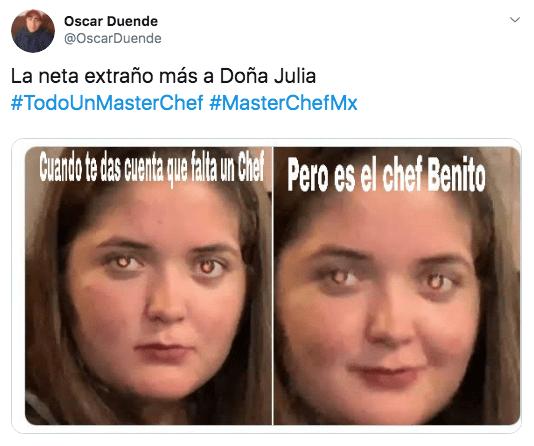 Memes del capítulo 9 de Master Chef La Revancha