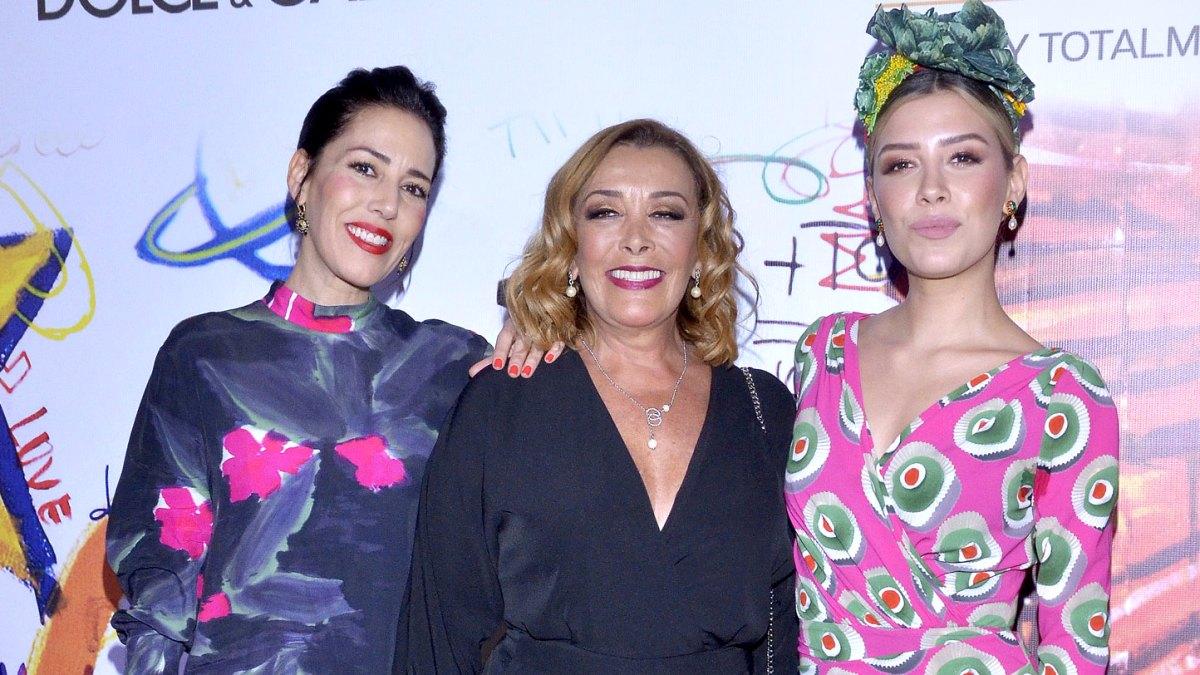 Sylvia Pasquel flanqueada por su hija Stephanie Salas y su nieta Michelle Salas (Las Estrellas)