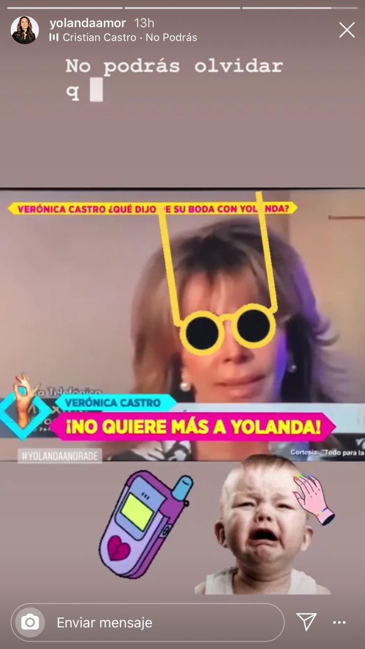 Yolanda Andrade se burla de Verónica Castro tras desmentir su boda