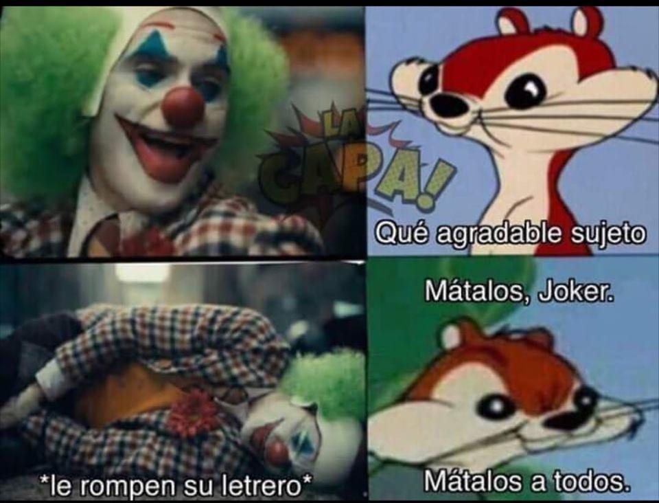 Foto: Joker Meme El Bromas. 6 Octubre 2019