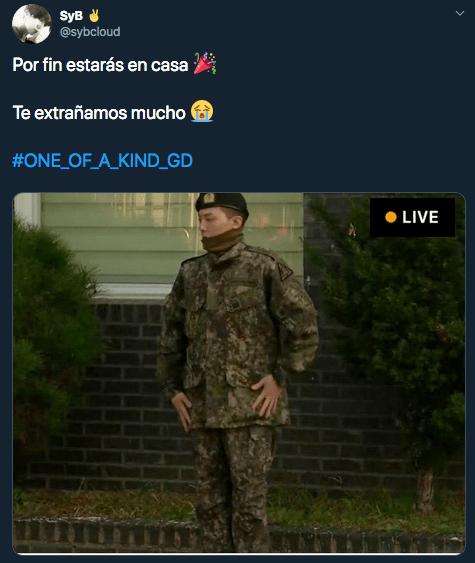 G-Dragon (BIG BANG) terminó hoy su servicio militar en Corea