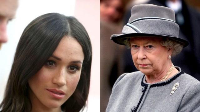 Reina Isabel II, Meghan Markle, Príncipe Harry, Retrato, Palacio De Buckingham, Duques De Sussex
