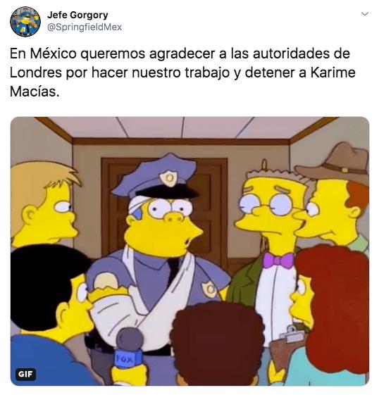 Los memes de la detención de Karime Macías en Londres