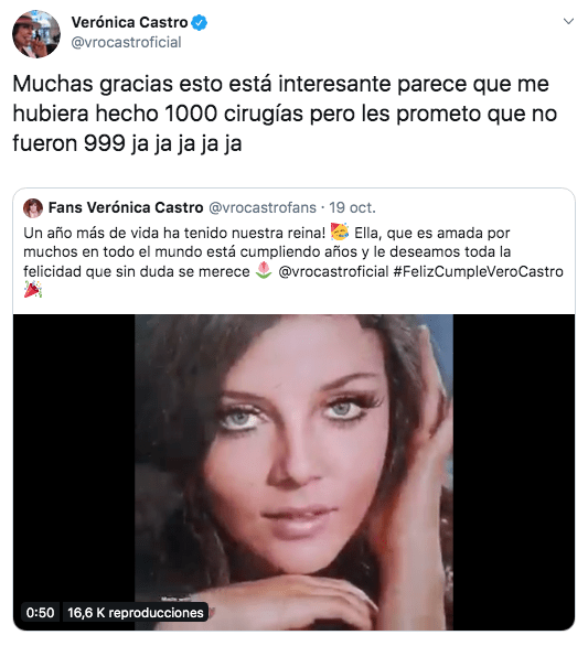 Así festejó su cumpleaños 67 Verónica Castro
