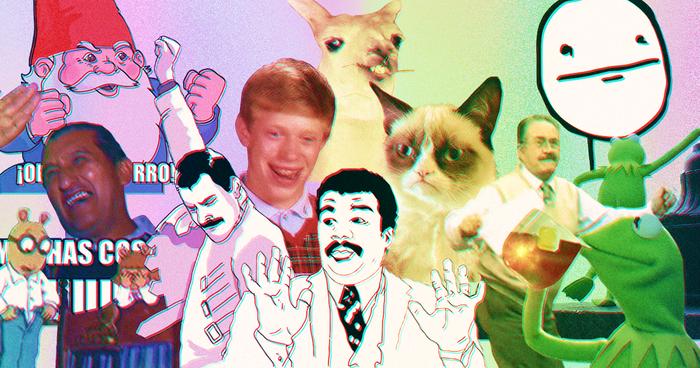 Los mejores memes graciosos de la década del 2010 en collage