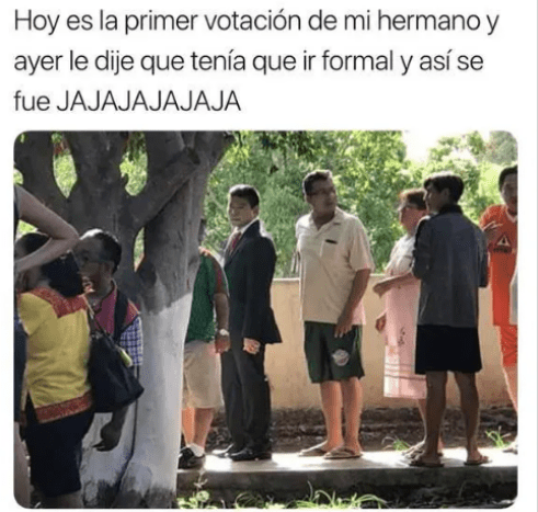 Meme día de las elecciones 2018