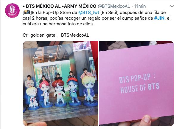 El Jin Day de BTS en twitter