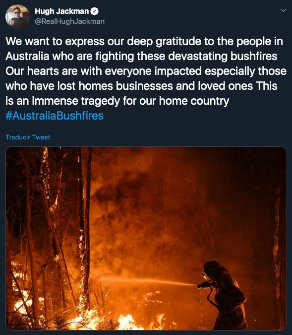 Famosos se unen para detener los incendios en Australia