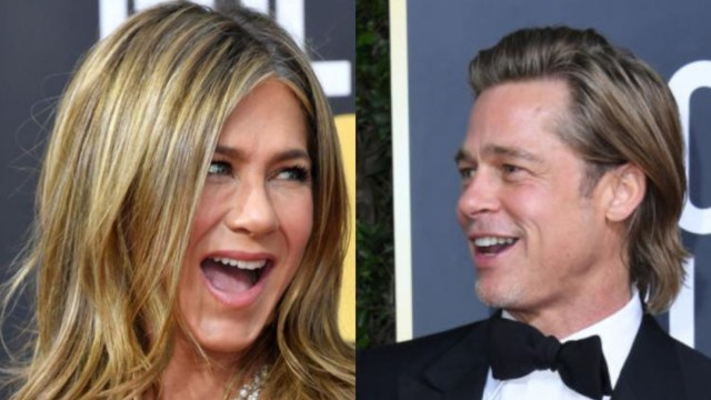 Jennifer Aniston y Brad Pitt en los Golden Globes 2020