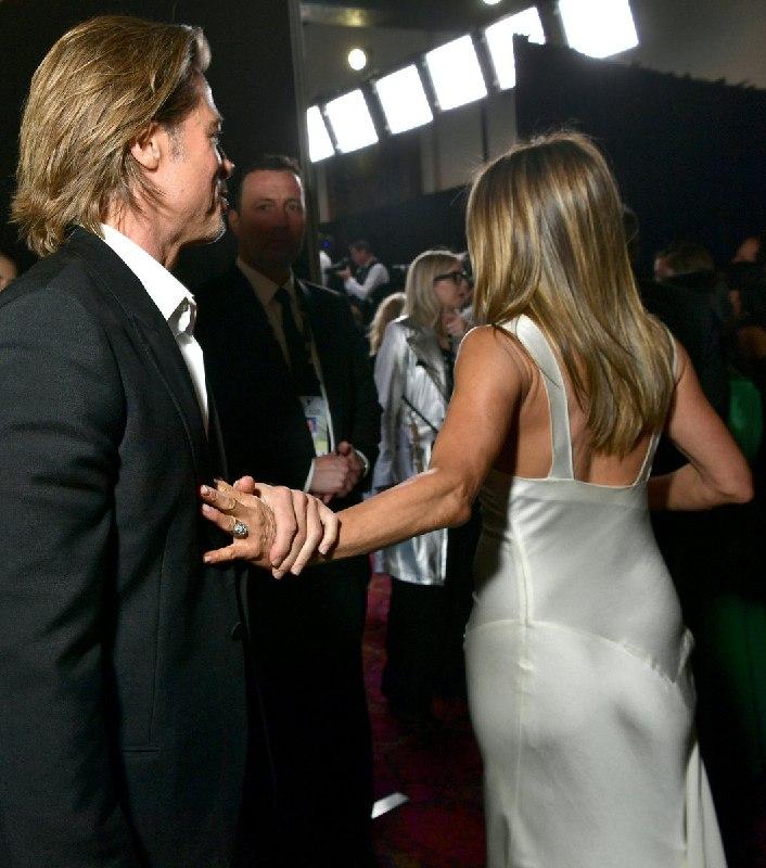 Jennifer Aniston y Brad Pitt se reencuentran en los SAG Awards 2020