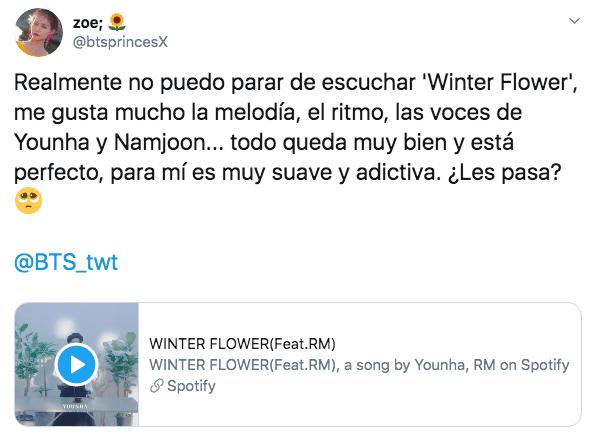 Namjoon y Younha estrenan WINTER FLOWER