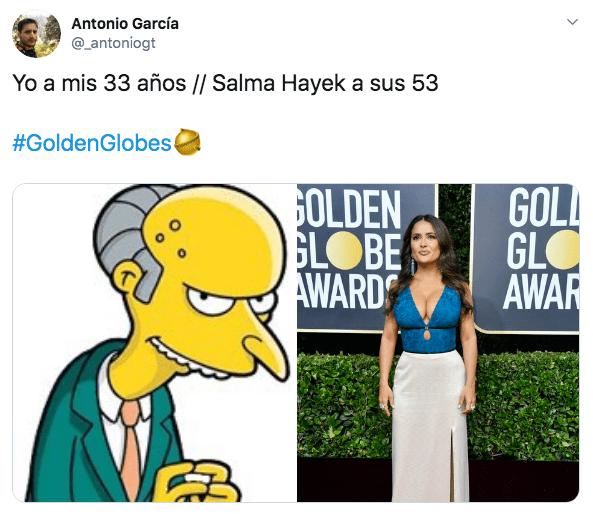 El vestido de Salma Hayek en los Globos de Oro 2020