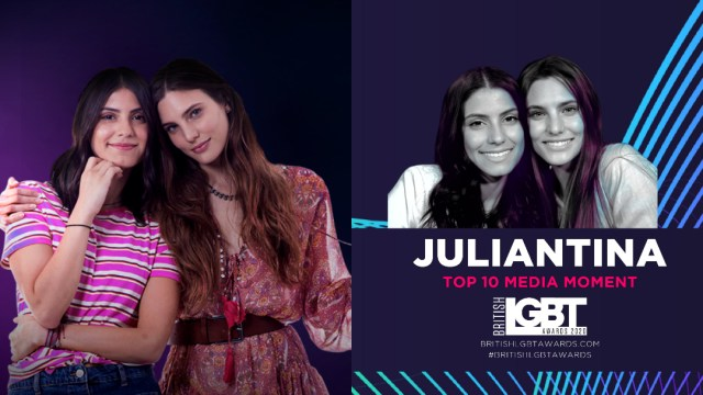 Juliantina son nominadas a los British LGBT Awards 2020