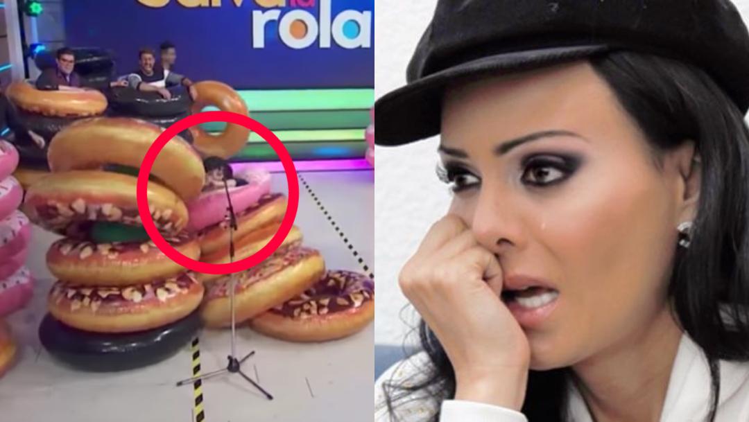 Maribel Gardia sufre aparatosa caída en el programa 'Hoy'