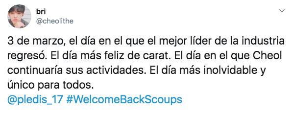 S Coups regresa a SEVENTEEN tras meses de crisis de ansiedad