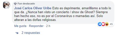 Aseguran que en concierto de Ghost donde estuvo el primer fallecido por Coronavirus hicieron rituales satánicos