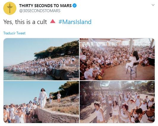 Jared Leto inicia culto en una isla donde él es el líder