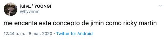 Jimin de BTS aparece como Ricky Martin