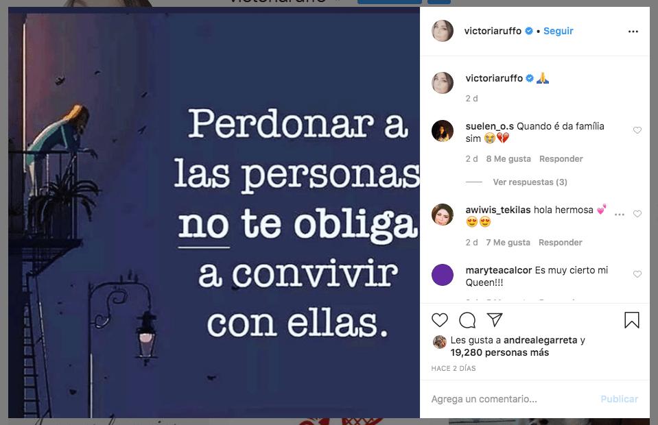 Victoria Ruffo manda indirecta a Eugenio Derbez