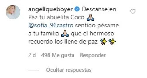 Angelique Boyer recuerda a Socorro Castro tras su muerte