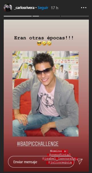 Carlos Rivera comparte foto de su juventud