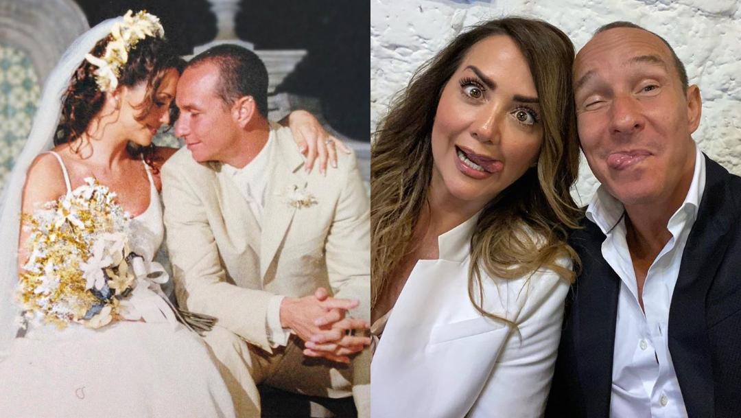 Andrea Legarreta y Erik Rubín festejan 20 años de casados