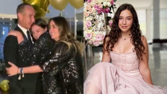Hija de Andrea Legarreta Mía y su fiesta vestido de XV años