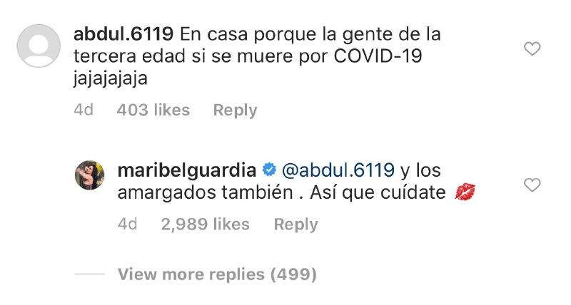 Maribel Guardia responde a seguidor que se burló de su edad