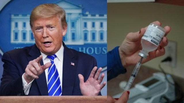 Trump pide inyectarse gel antibacterial contra coronavirus