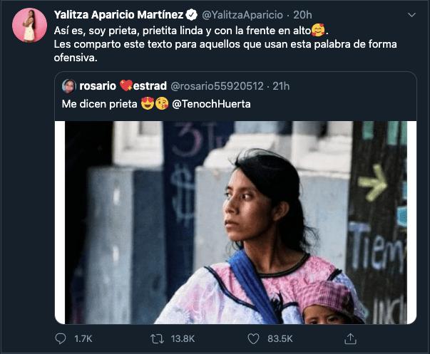 Yalitza Aparicio le manda mensaje antiracista a Bárbara de Regil