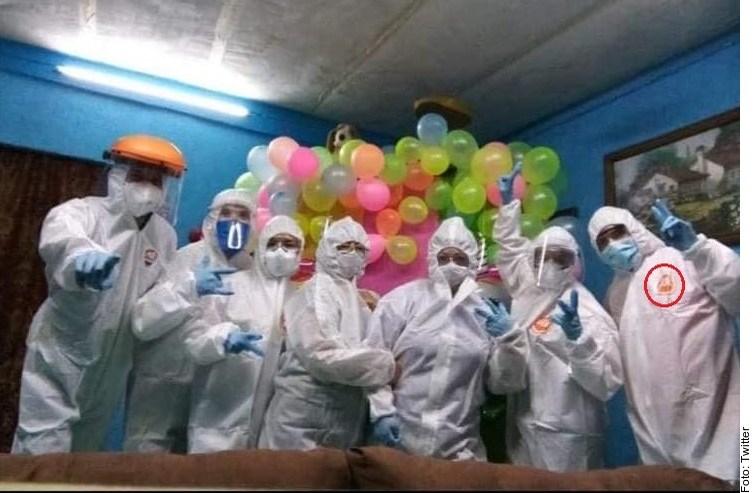 Roban material de hospital en Veracruz para hacer fiesta