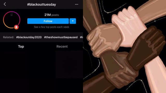 Qué es Blackout Tuesday y famosos en redes sociales
