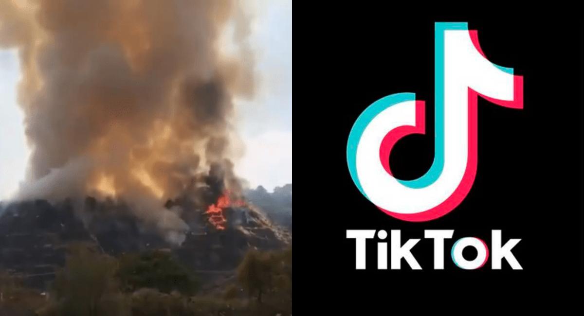 Multan con 2 mdp por provocar incendio para grabar un TikTok