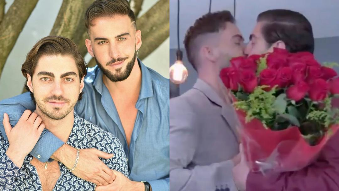 Roberto Carlo pide matrimonio a su novio Ruben Kuri en vivo