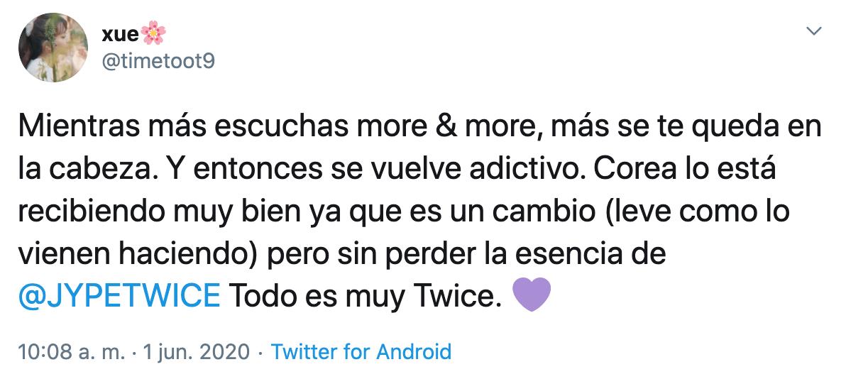"""Twice estrena comeback con """"MORE & MORE"""" y así reaccionó ONCE"""