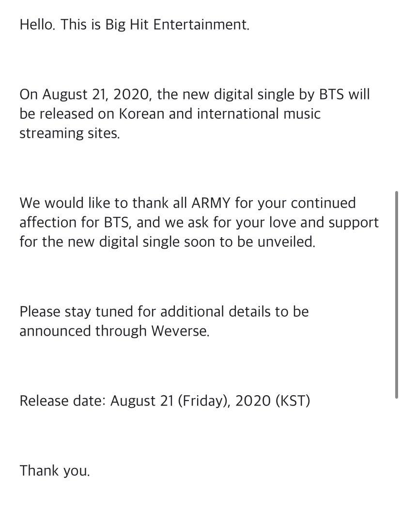 BTS confirma el lanzamiento de una canción y anuncia un nuevo álbum