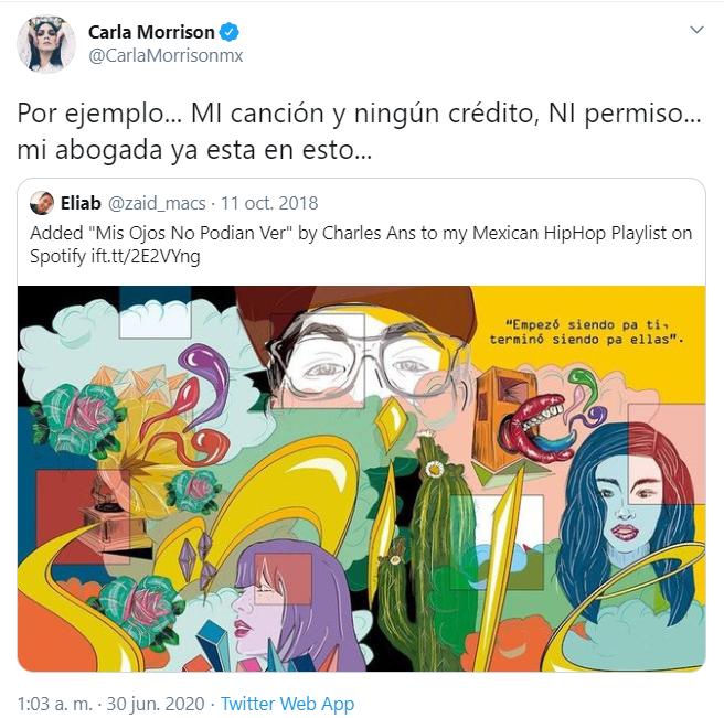 Critican a Carla Morrison por defender su trabajo del plagio de Charles Ans