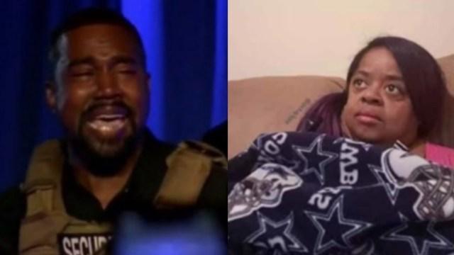 Memes de primer evento presidencial de Kanye West llorando