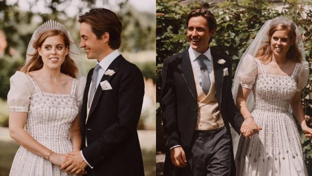 Vestido de princesa Beatriz en boda era de Isabel II