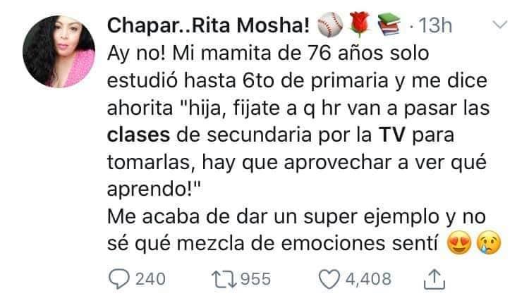 Abuelos toman clases en televisión para terminar estudios
