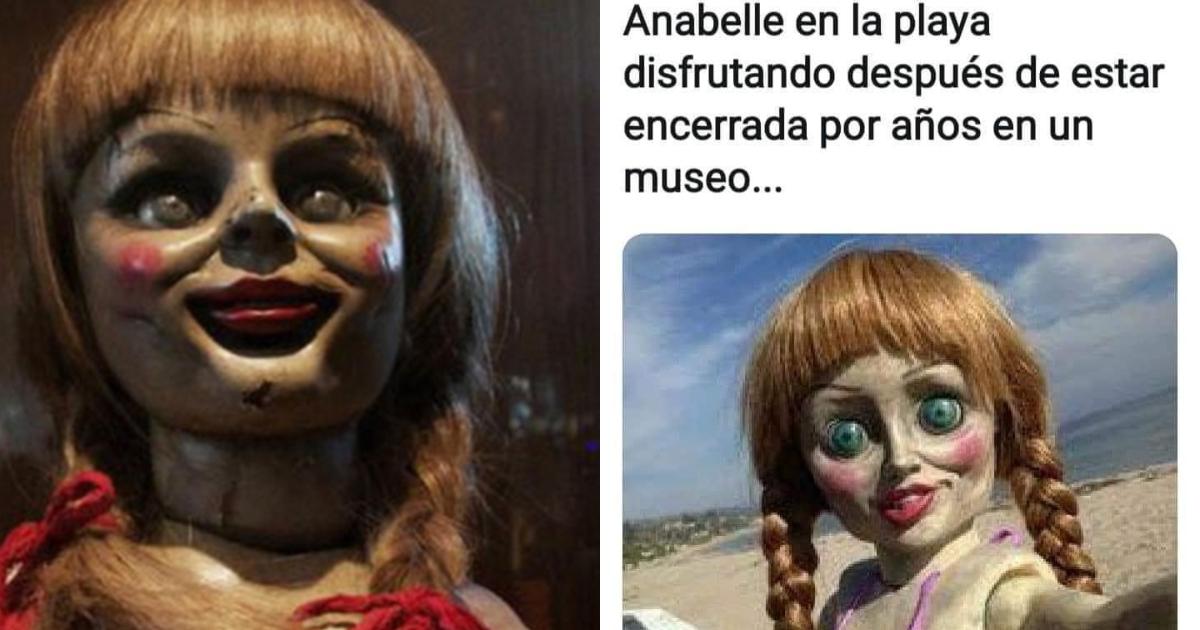 Annabelle se escapa del museo memes