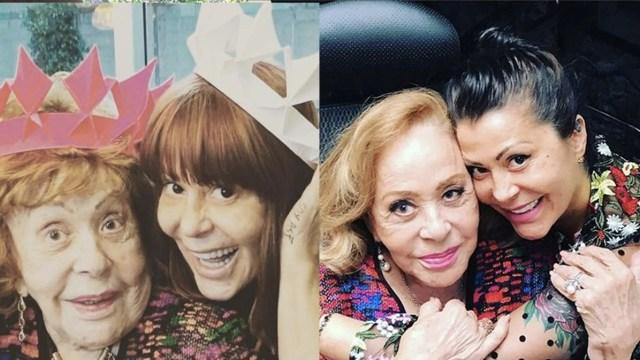 Critican foto de Alejandra Guzman y Silvia Pinal sin filtros